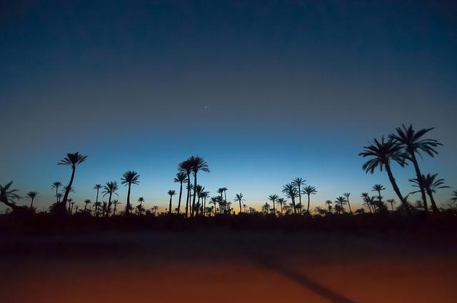genieten van rust bij marrakech Marrocco