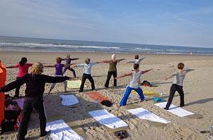 Yogaweekend strand Zeeland