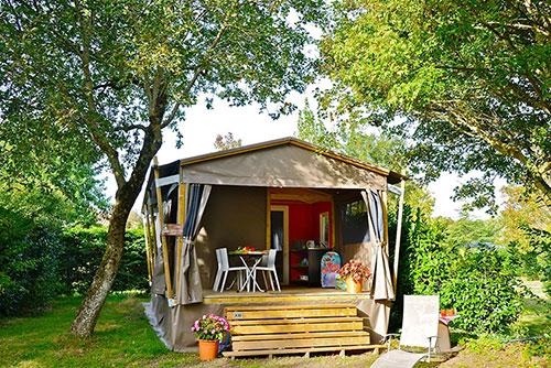 Cottage op sfeervolle camping in Frankrijk