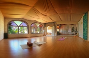 Yogaruimte bij het hotel