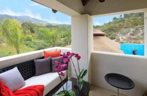 Prachtig uitzicht op de bergen vanuit dit wellnesshotel in Andalusië