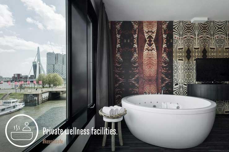 Hotel Mainport in Rotterdam, inclusief privé-wellness op hotelkamer